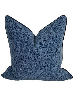 Blue Shagreen Coastal Lifestyle Pillow - Nautical Luxuries