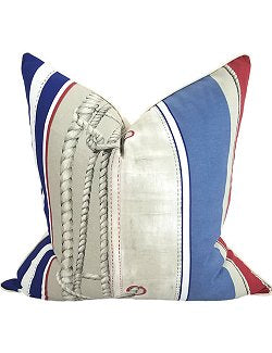 Bending On The Sail Nautical Pillow - Nautical Luxuries
