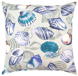Shell Melange Accent Pillow - Nautical Luxuries