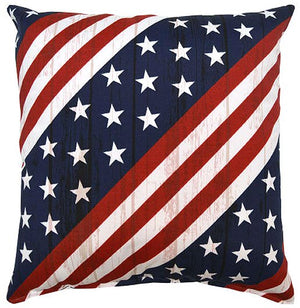 Dock Stars & Stripes Indoor/Outdoor Poly Accent Pillow - Nautical Luxuries