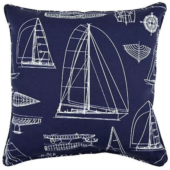 Sail Plan Designs Indoor/Outdoor Poly Accent Pillows
