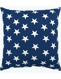 Navy Star Field Indoor/Outdoor Poly Accent Pillow - Nautical Luxuries