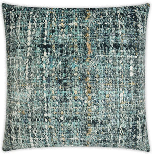 Vintage Ocean Bouclé Weave Print Pillow - Nautical Luxuries