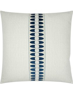 Summer Elegance Indigo Linen Pillow - Nautical Luxuries