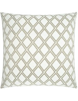 Diamond Lattice Embroidered Pillow - Nautical Luxuries