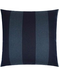 Contempo Neutrals Outdoor Pillows/Oceanside Stripe Indigo - Nautical Luxuries