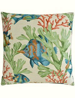 Contempo Indoor Pillows/Fish Life - Nautical Luxuries