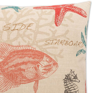 Contempo Indoor Pillows/Coral Specimen Sea Life - Nautical Luxuries