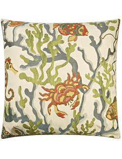 Contempo Indoor Pillows/Reef Crab - Nautical Luxuries