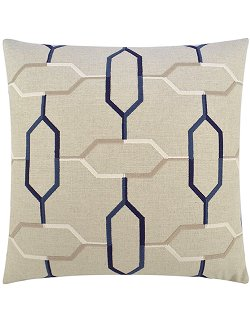 Contempo Indoor Pillows/Hexagon Chain Accent Pillow - Nautical Luxuries