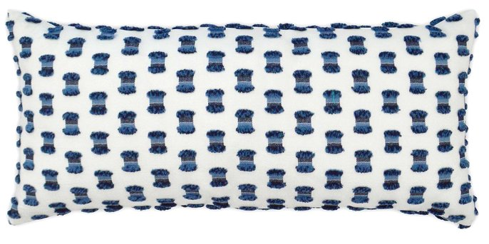 luxury outdoor pillow indigo blue and white