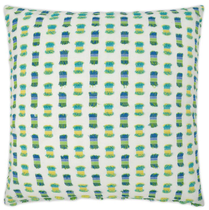 luxury outdoor pillow bright green and white