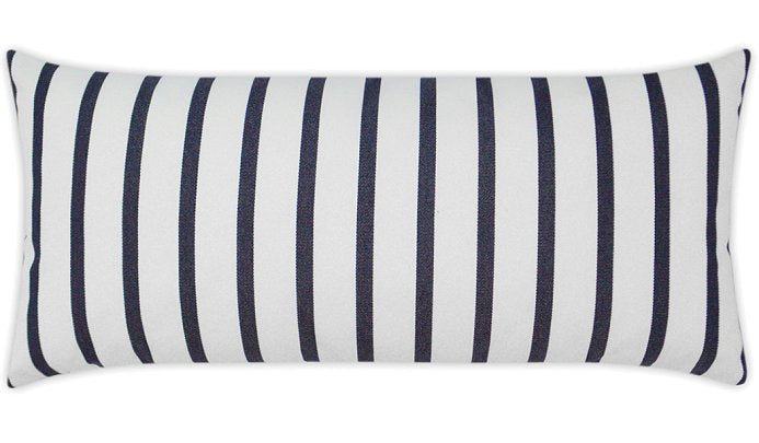 luxury outdoor pillow nautical stripe navy blue on white