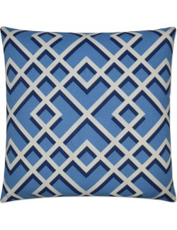 luxury outdoor pillow blue