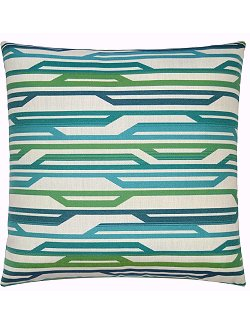 luxury outdoor pillow green and blue