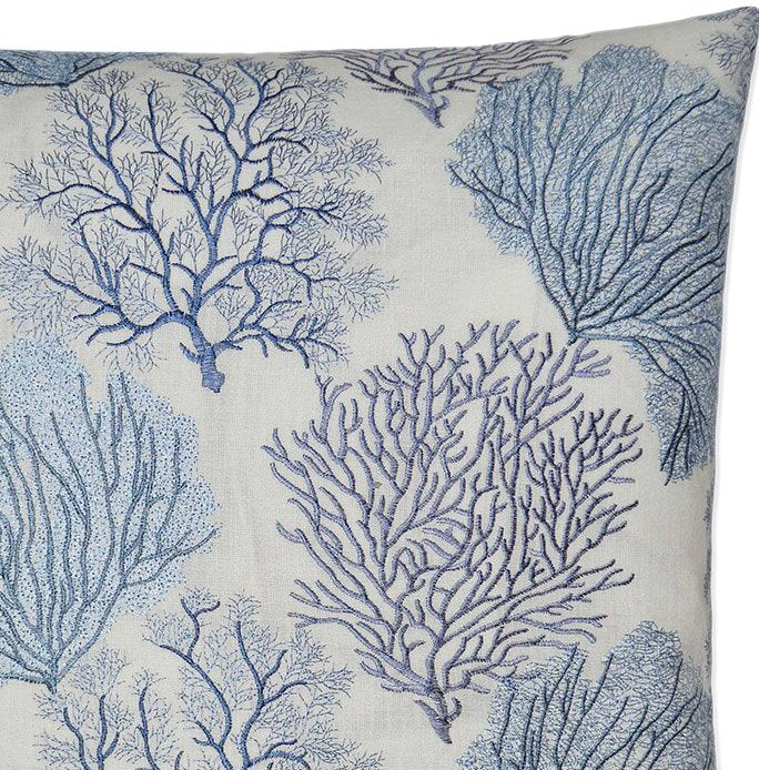 Contempo Indoor Pillows/Blue Coral Field - Nautical Luxuries