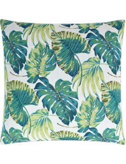 luxury outdoor pillow tropical palms green