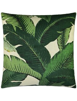 tropical palm pillow