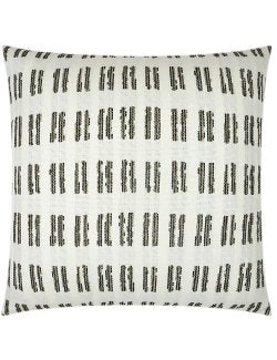 Contempo Neutrals Outdoor Pillows/Boho Hashmarks Natural - Nautical Luxuries