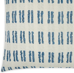 Contempo Neutrals Outdoor Pillows/Boho Hashmarks Blue - Nautical Luxuries