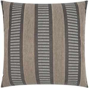 Contempo Neutrals Outdoor Pillows/Compound Stripes Stone - Nautical Luxuries