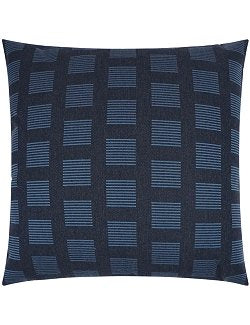 Contempo Neutrals Outdoor Pillows/Indigo Squared - Nautical Luxuries