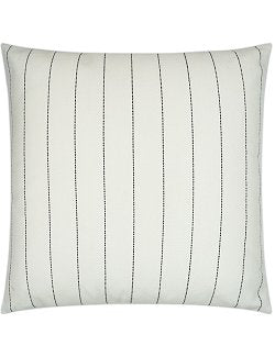 Contempo Neutrals Outdoor Pillows/Malibu Pinstripe Natural White - Nautical Luxuries