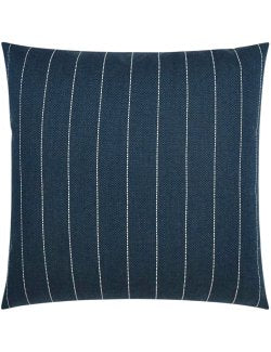 Contempo Neutrals Outdoor Pillows/Malibu Pinstripe Indigo - Nautical Luxuries