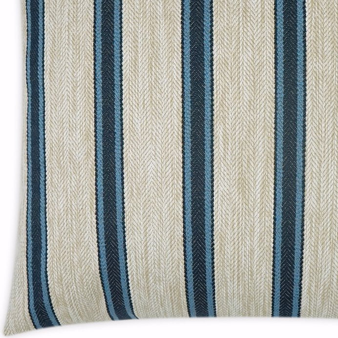 Contempo Neutrals Outdoor Pillows/Sausalito Stripe Navy - Nautical Luxuries