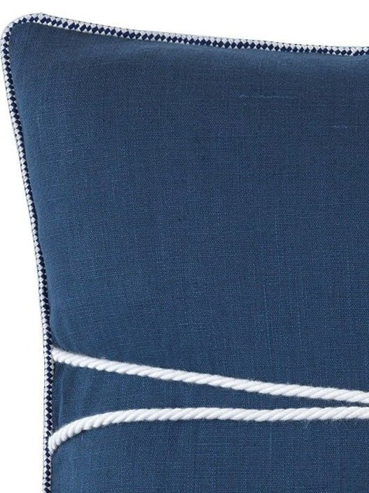 Knotted Bamboo Ring Linen Accent Pillow
