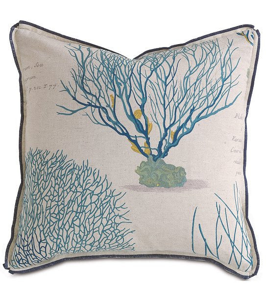Coral Specimen Linen Accent Pillows