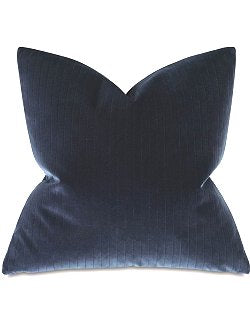 Indigo Suited Velvet Accent Pillow - Nautical Luxuries