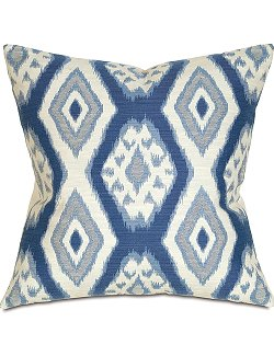 Marine Ikat Accent Pillow