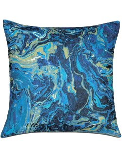 Marbled Sea Accent Pillow - Nautical Luxuries