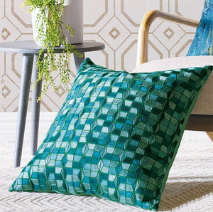 Sea Glass Labrynth Accent Pillow - Nautical Luxuries