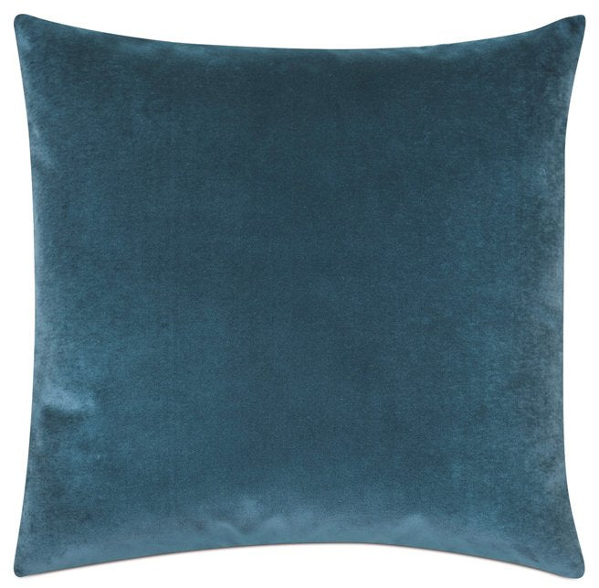 Deep Ocean Cotton Velvet Accent Pillow - Nautical Luxuries