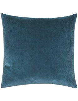 Deep Ocean Cotton Velvet Accent Pillow