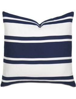 Harbor Indigo Stripe Accent Pillow - Nautical Luxuries