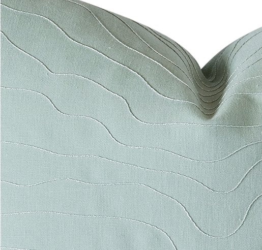 Silvery Ripples Spa Accent Pillow