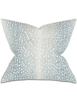 Aqua Fawn Ombre Accent Pillow - Nautical Luxuries