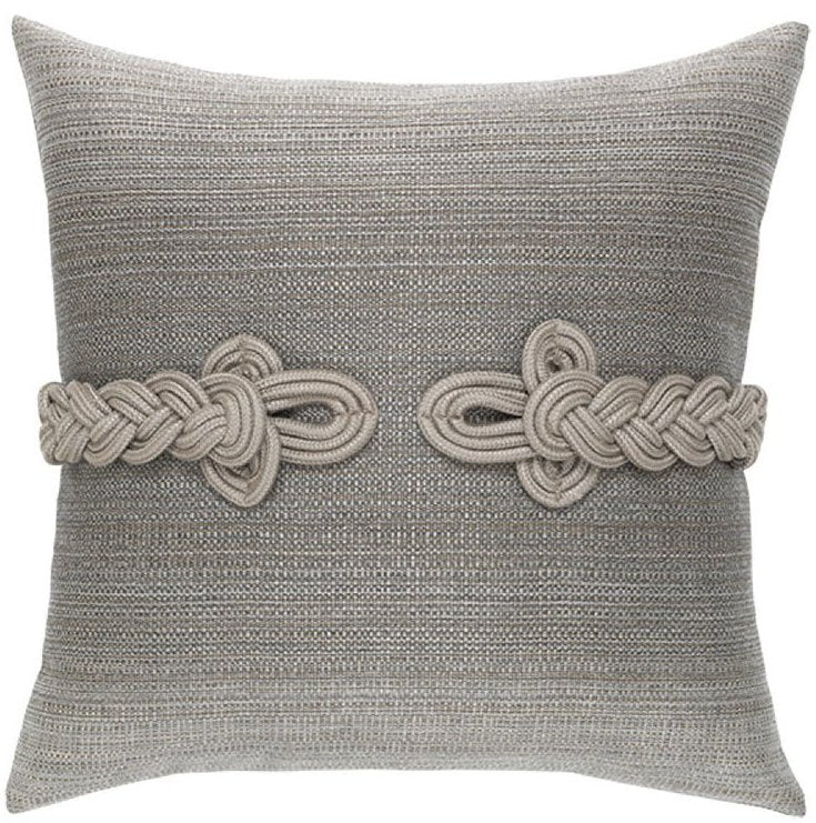 Frog's Clasp Sunbrella® Cadet Gray Outdoor Pillow