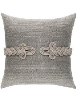 Frog's Clasp Sunbrella® Cadet Gray Outdoor Pillow - Nautical Luxuries