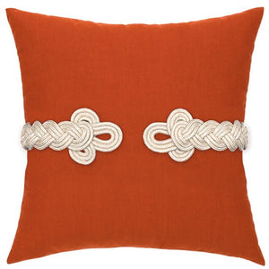 Frog's Clasp Sunbrella® Coral Outdoor Pillow - Nautical Luxuries