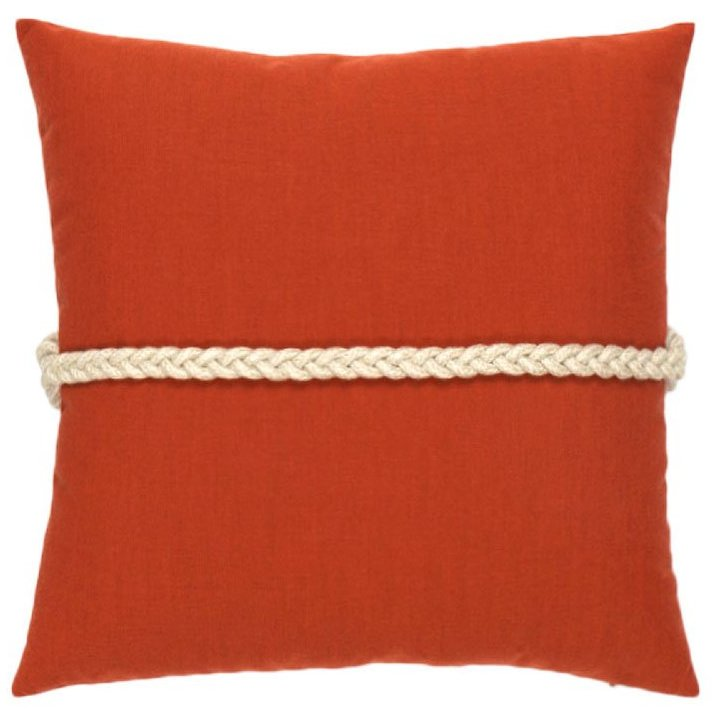Frogu0027s Clasp Sunbrella® Coral Outdoor Pillow