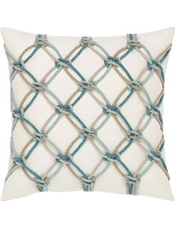 Nautical Net Sunbrella® Outdoor Pillows (4 Colors) - Nautical Luxuries