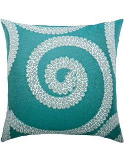 Spiral Swirl Sunbrella® Outdoor Pillow