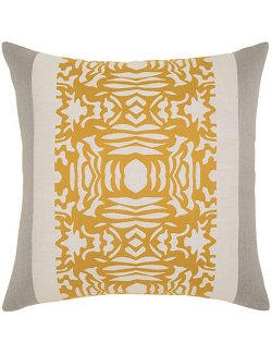 Golden Block Print Sunbrella® Outdoor Pillows