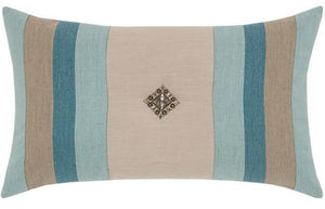 Bold Lagoon Color Block Sunbrella® Outdoor Pillows - Nautical Luxuries