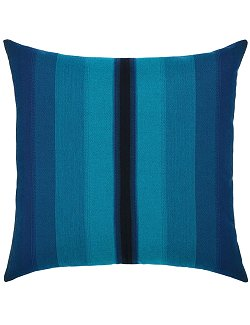 Ombre Azure Stripe Sunbrella® Outdoor Pillows