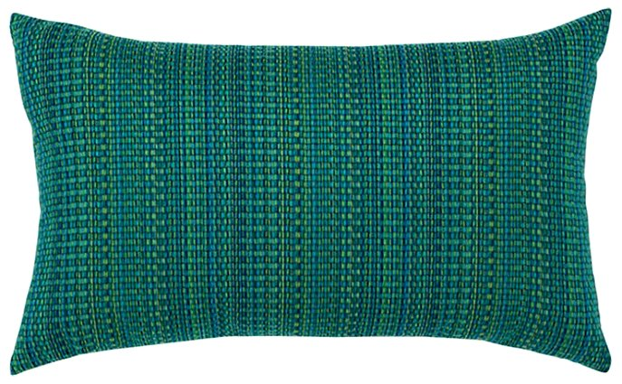 Textured Touch Emerald Sunbrella® Outdoor Pillow - Nautical Luxuries